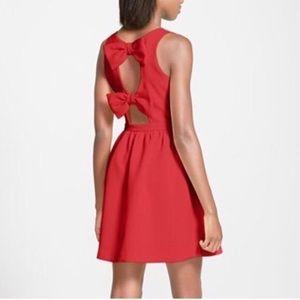 Orange bow-back dress